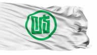 Gifu Prefecture Isolated Waving Flag video