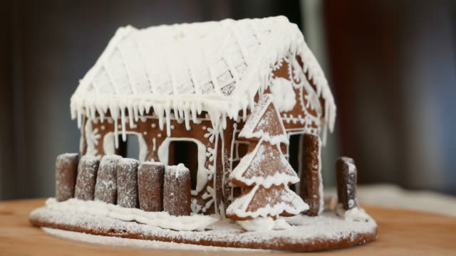 Gingerbread house. Looped movie. video
