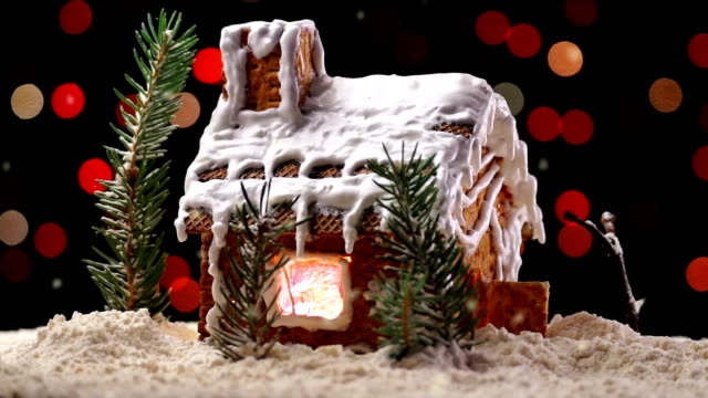 Gingerbread House with Christmas Lights video