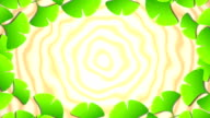 ginkgo opening frame 2 pattern bright background video
