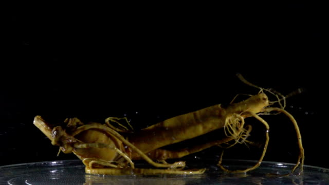 Ginseng pouring in slow motion video