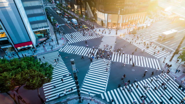 Ginza Crossing time lapse 4K video
