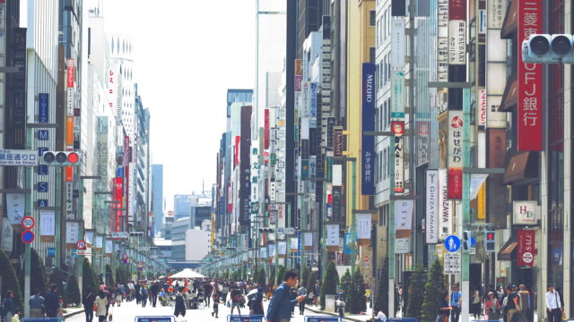 Ginza shopping town in Tokyo video