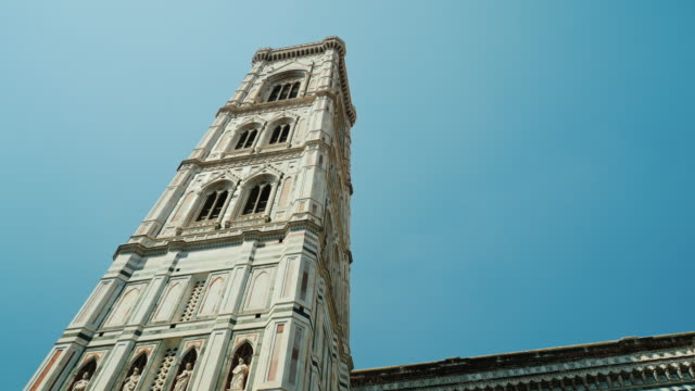 Giotto Campanile Bell Tower. An outstanding landmark of Florence and Italy video