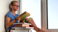 Girl and Books video