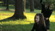Girl and her mom in the park video