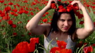Girl and Poppies video