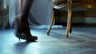 Girl and shoes video
