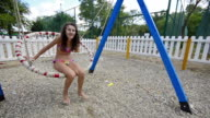 Girl beach swing video