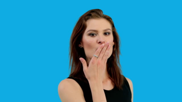 Girl Blowing a Kiss video