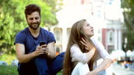 Girl bored, her boyfriend wrote in the social network video