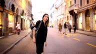 Girl calling taxi video