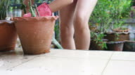girl cleaning her home video