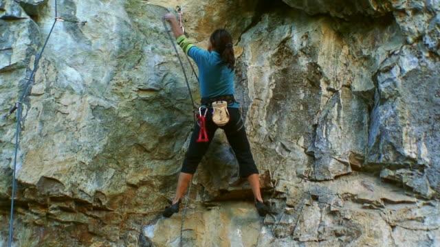 Girl Climbing HD video