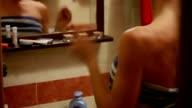 Girl dancing in bathroom video