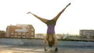 Girl Doing Cartwheel video