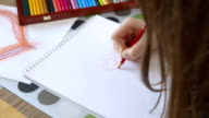 Girl drawing a heart - Valentine's Day - Mother's Day - Father's Day - Birthday video
