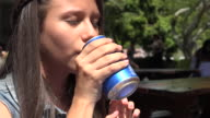 Girl Drinking, Thirst, Thirsty, Beverages video