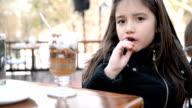 Girl eating cookie video