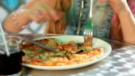 Girl Eating Pizza video