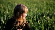 Girl enjoying the wheat field video