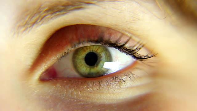 Girl eye macro HD movie video
