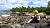 HD: Girl gazing in paradise video