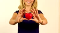 Girl giving her heart / love video