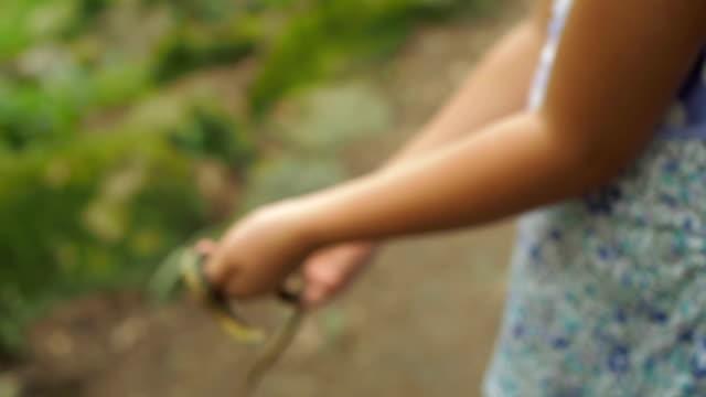 Girl Holding Snake video