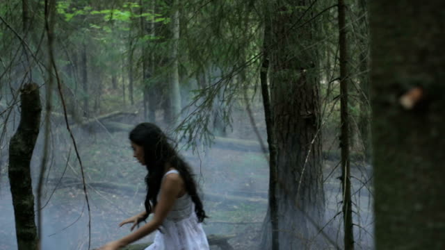 Girl In A Mysterious Foggy Forest video