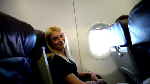 Girl in airplane video