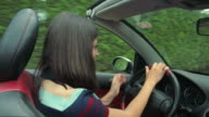Girl in cabriolet. video
