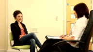 Girl in Counselling / Therapy session - psychiatrist video