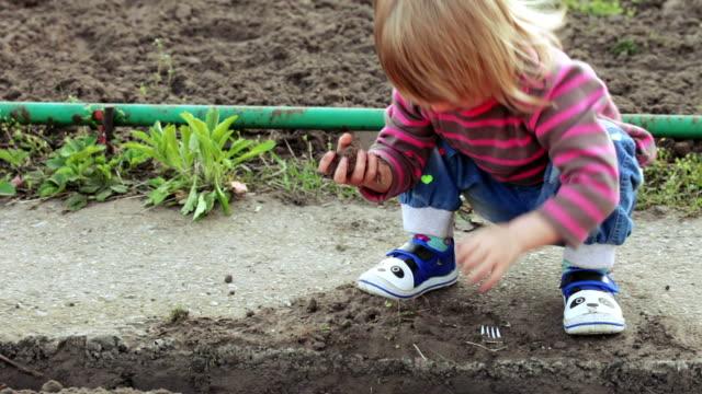 Girl in garden video