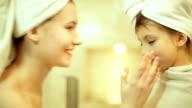 girl in home spa video