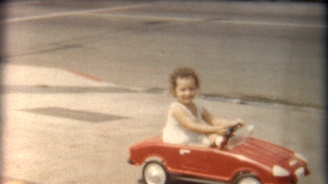 Girl in Red Car 1960's video
