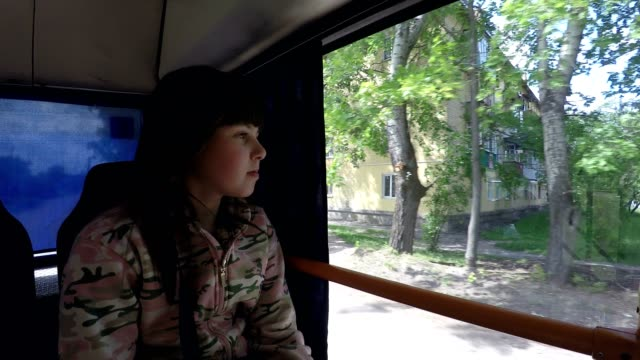 Girl in the bus. video