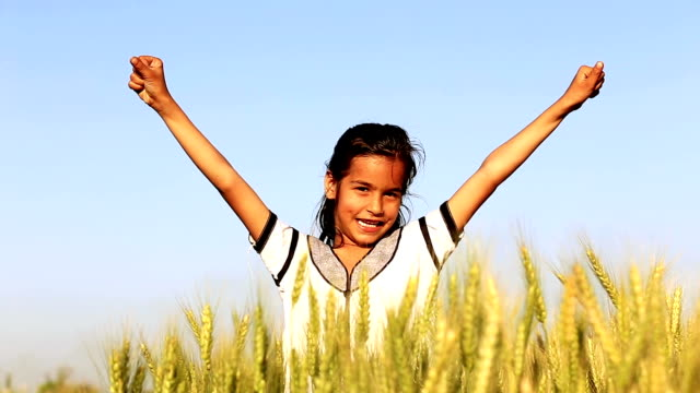 Girl in the Field of Wheat video