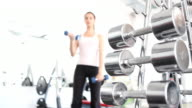 Girl in the gym (HD) video