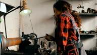 Girl in workshop video