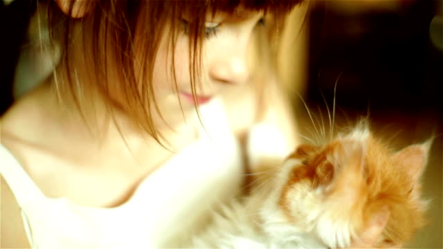 Girl Kissing Cat video