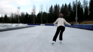 girl learning how to figure skate video