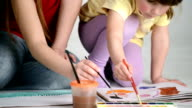 Girl Learning to Draw video