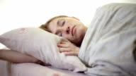 Girl lying in bed video