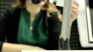 girl microphone radio video
