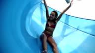 HD STOCK: Girl on a slide video