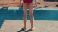 Girl on diving board video