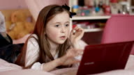 Girl on laptop video