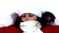 Girl on snow video