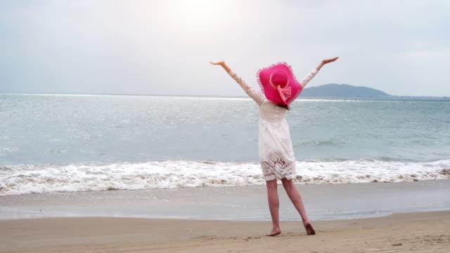 Girl on the sea's beach video